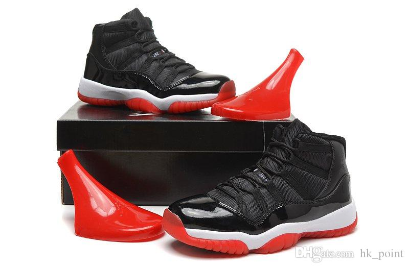 3ecbcbdcbbd1f5 Real Carbon Fiber 11s Shoes Bred Space Jam 45 Prom Night Mens ...
