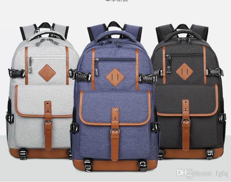 e7b292d716 2019 Fashion Stylish Outdoor Backpack Casual Bag Male Backpack Canvas  School Notebook Bag Designer Backpacks For Men From Fgfq