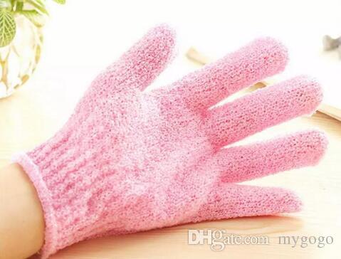 Gant de bain au hasard gant de bain cinq doigts gants de bain hammam gant gant magique exfoliant beaucoup de couleur 2018 chaud nouveau