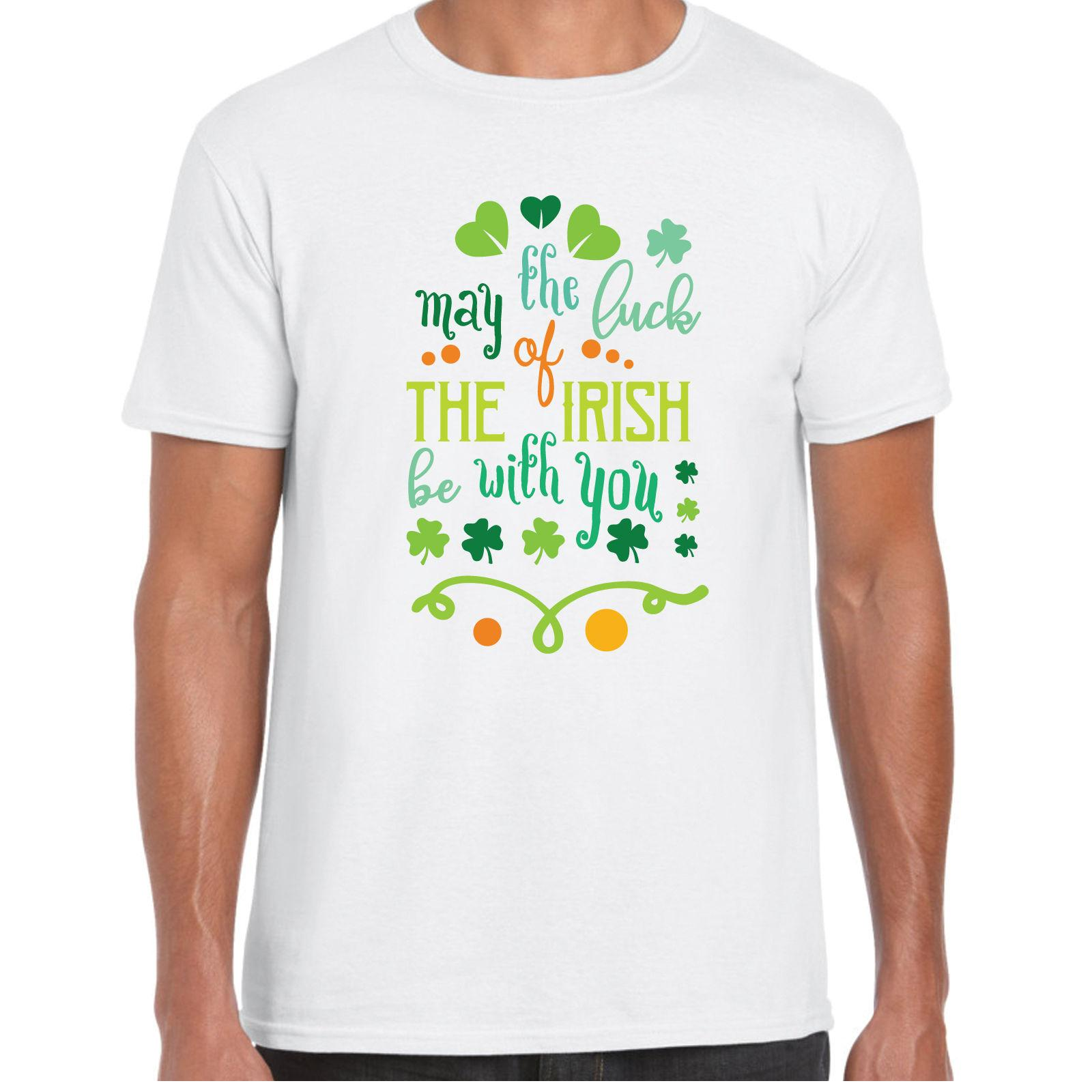 1c216123e May The Luck Of The Irish Be With You MensT Shirt St Patricks Day Irish  Gift Design And Buy T Shirts Tee Shirt Online Shopping From Tshirtemperor,  ...