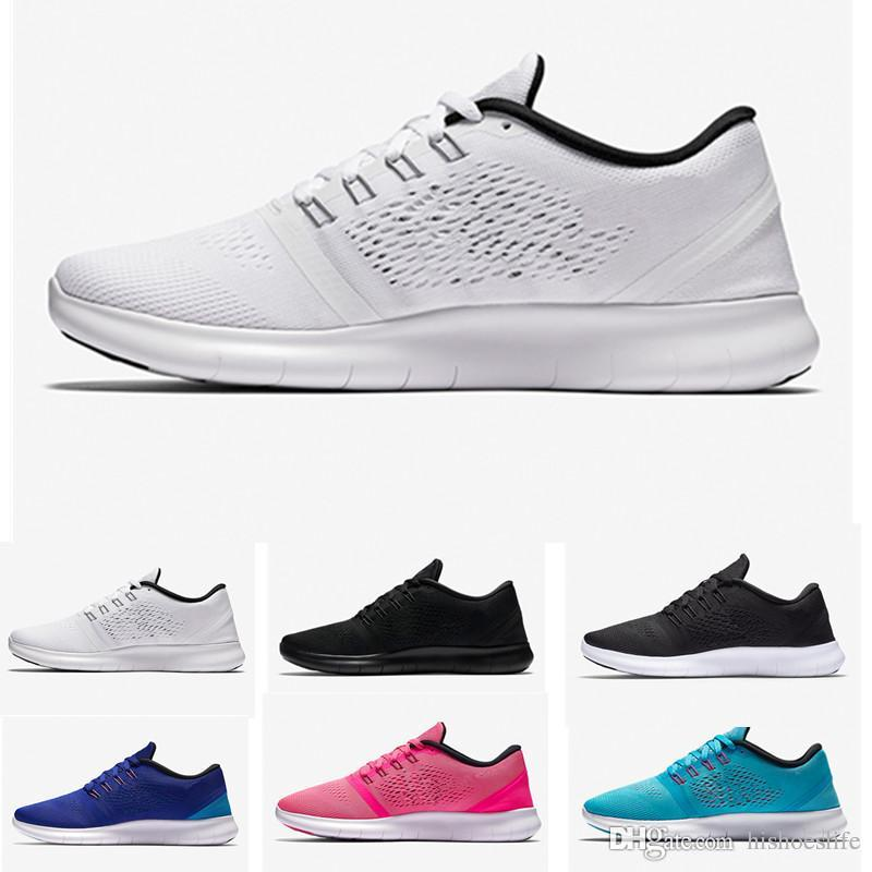 finest selection 57ebd 12eec Compre Nike Flyknit Free Run Con La Caja 2018 Nuevos Zapatos Arco Iris Epic  React Froth Tejer Arco Iris Hombres Y Mujeres Zapatos Casuales, Flying  Knitted ...