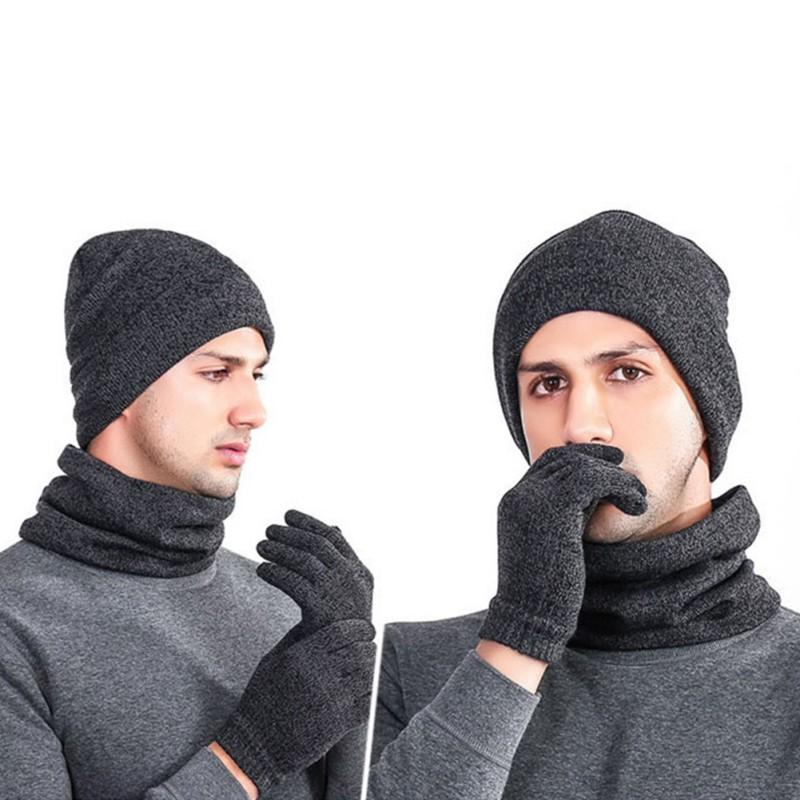 69794c19cc0 2018 Good! Men   Women Knitted Hat Gloves Scarf Set Winter Soft Warm Hiking Cap  Scarves Sets Outdoor Gift Nx From Cbaoyu