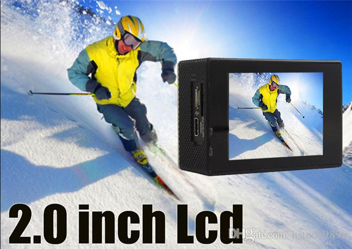 High quality F60 HD 4K WIFI outdoor Adventure Sport camera Deportiva Helmet Cam 30M underwater waterproof 2.0' LTPS LCD Ultra wide Angle