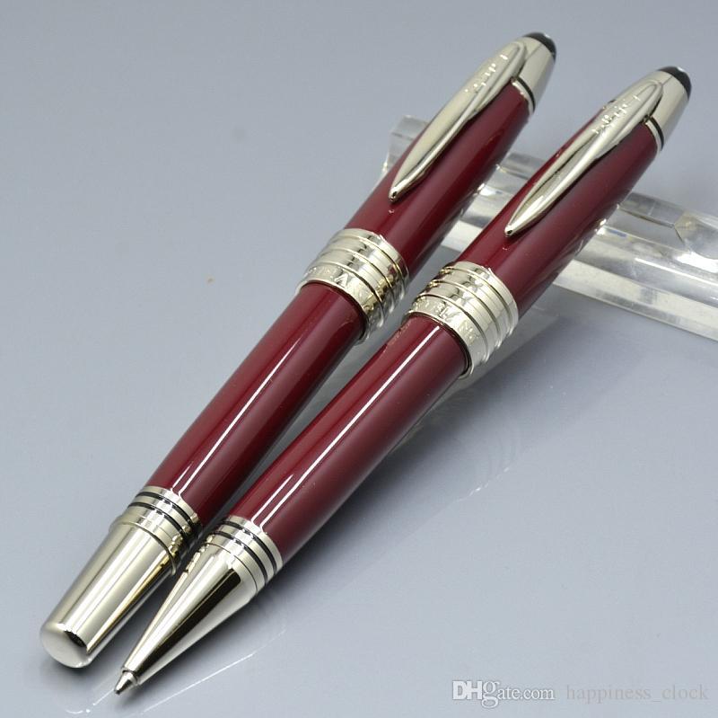 Grande John F Kennedy Blu scuro nero vino rosso Resina e penna metallica JFK clip stationery office office Roller Penna a sfera / penne stilografiche