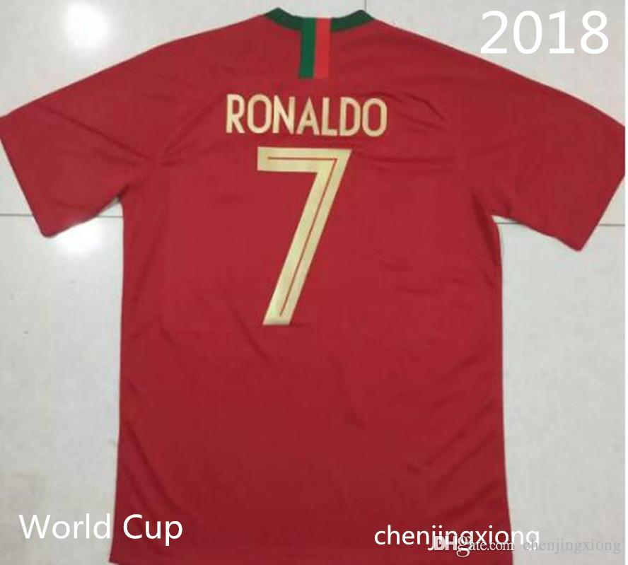 lowest price 800e4 b943b Popular2018 world cup #7 RONALDO home Soccer Jersey #7 RONALDO national  team soccer shirt CR 7 home red Football uniforms sales
