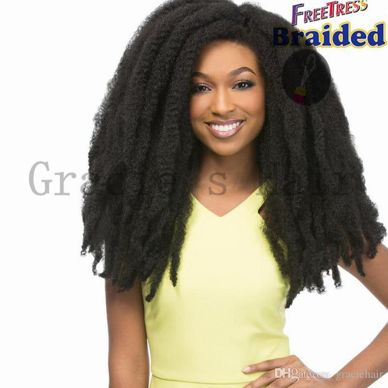 18inch Afro Kinky Twist Hair Bulks Synthetic Braiding Hair Crochet