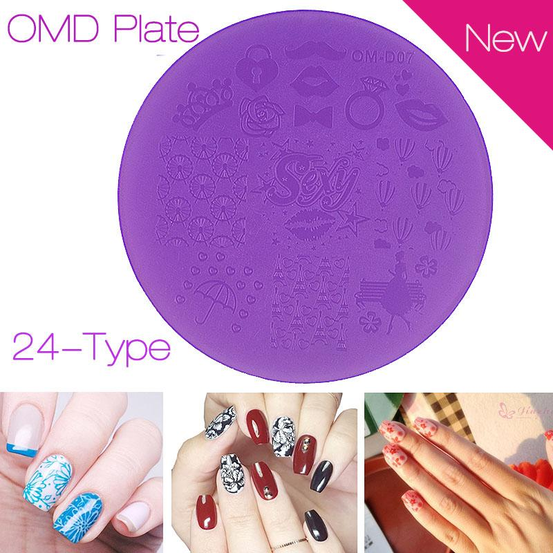 Wholesale New Purple Plastic Nail Art Stamping Plates 7cm Polish ...