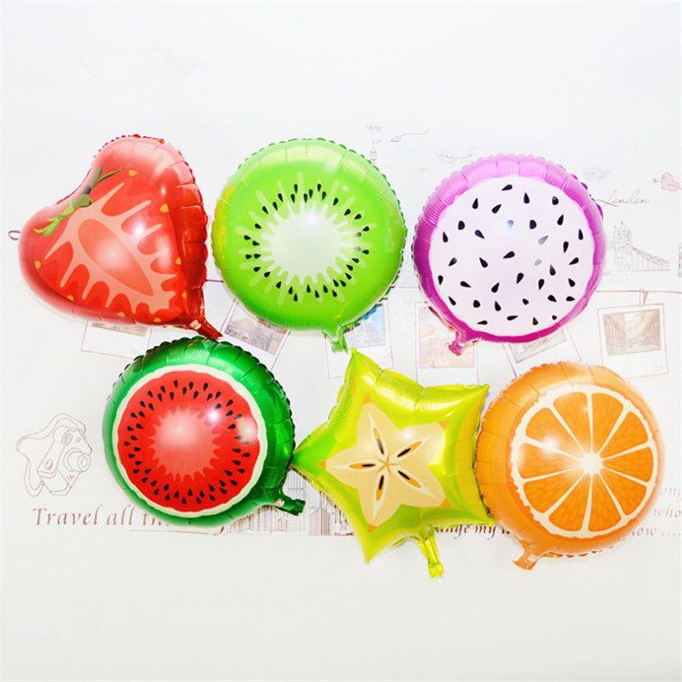 18 بوصة الفاكهة الألومنيوم بالونات متعددة الفواكه الهليوم بالون الأطفال عيد عرس حزب زينة لوازم الأعياد