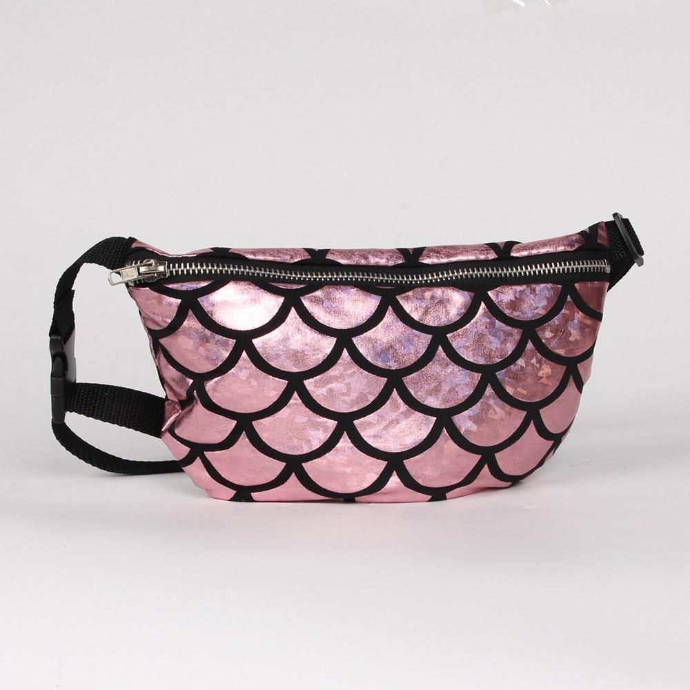 699343974d22 Fashion belt bags with Mermaid Scale design PU Waist bag fanny pack for  women cosmetic evening bag Multi function storage bags