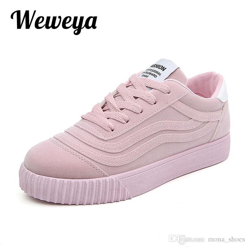 71eb5575ec Compre Moda Feminina Vulcanizar Sapatos Casuais Sapatos De Plataforma De  Lona Mulher Senhoras Sapatilhas Sapatilhas Zapatos Tenis Feminino Tamanho  35 43 De ...