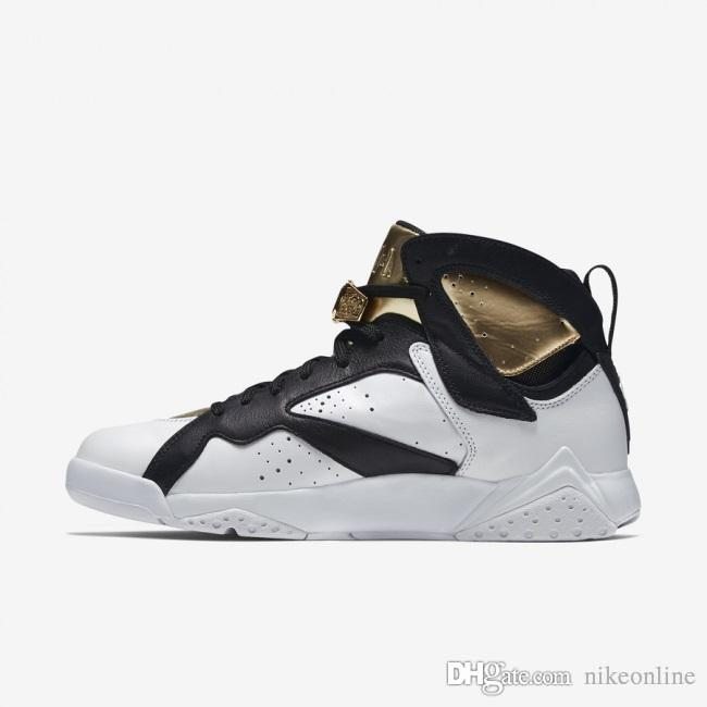 info for 5430a 295af Cheap Mens Jumpman 7 VII Basketball Shoes 7s Cigar Champagne Gold White  Black Bobcat Barcelona Bordeaux French Blue J7 Sneakers With Box Australia  2019 From ...
