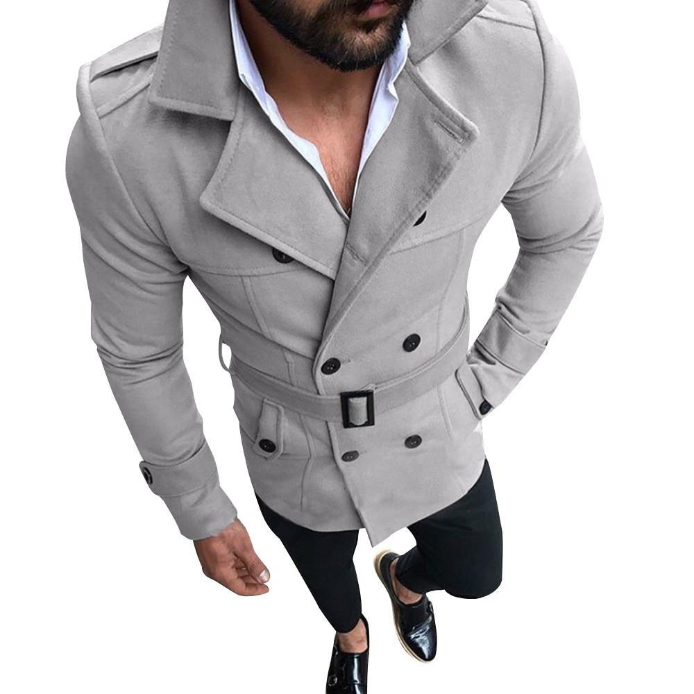 Acquista Giacca Moda Uomo Slim Fit Tuta Manica Lunga Giacca Top Trench Coat  Uomo Autunno Inverno Warm Button Coat Oct7 A  50.29 Dal Douban  29250101034