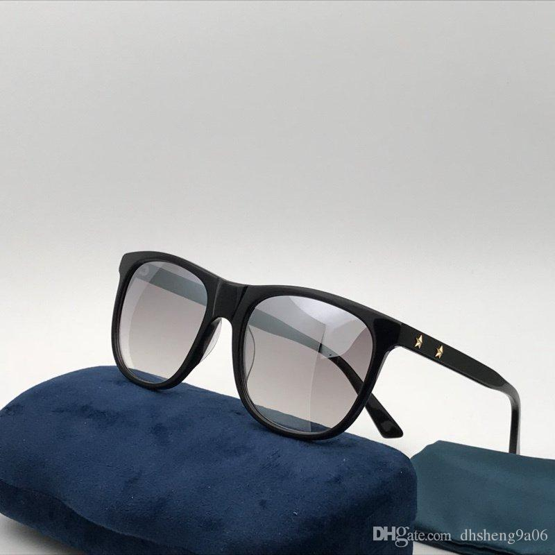 Qualité Luxe Forme De Mode Designer Femmes Marque Carré Acétate Vintage 0266s Cadre Hommes Top 56mm Discount Soleil Façon Lunettes POkXw08n