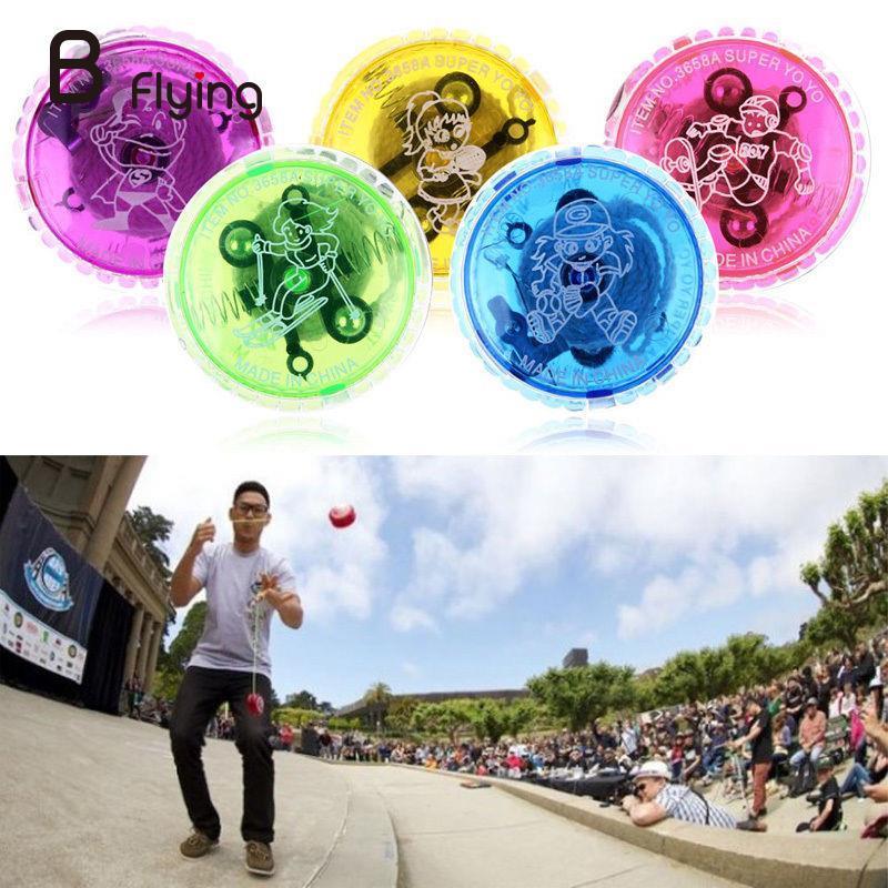 Flashing LED Glow Light Up YOYO Ball Party Colorful Yo-Yo Toys For Return Top Fun Gift Random Color