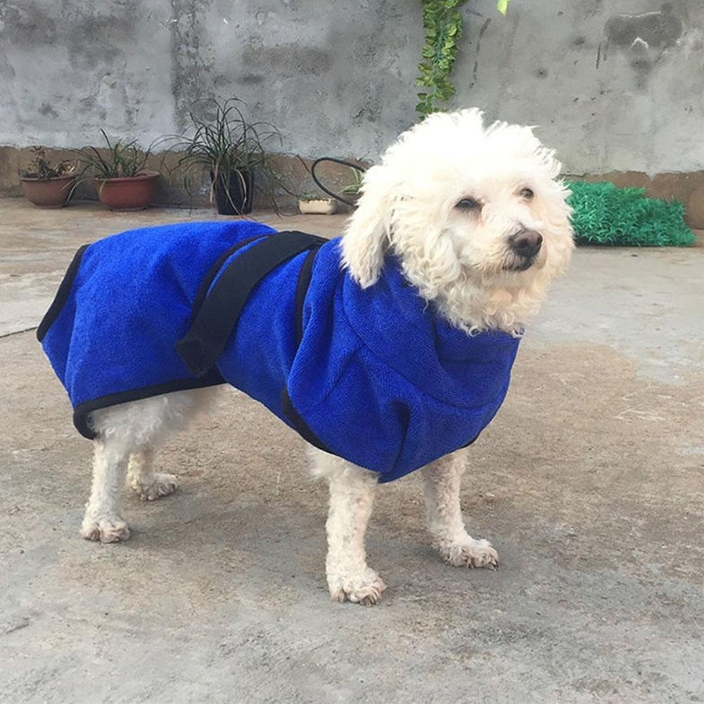 a33056d843 AsyPets Dog Cat Bath Robe Water Absorption Quick Drying Soft Towel ...