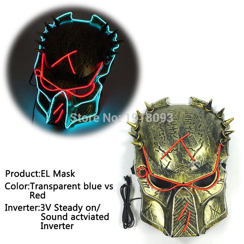 Großhandel Glühende Film Predator Maske Glühende El Draht Maske El ...