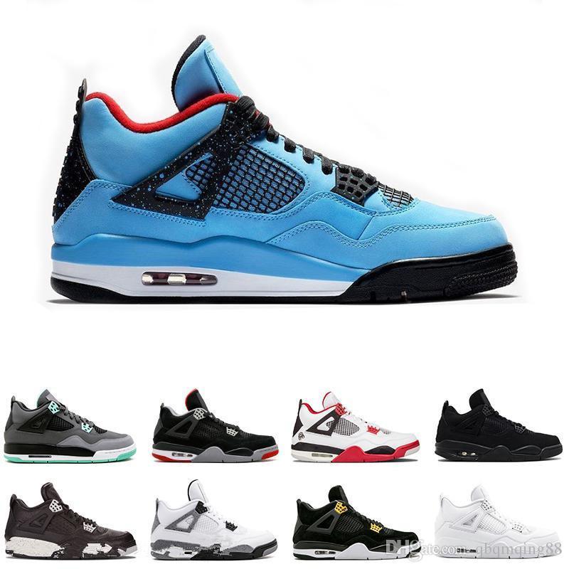 edc660abc0e580 New 4 4s Basketball Shoes Cactus Jack Raptors Pure Money Royalty ...