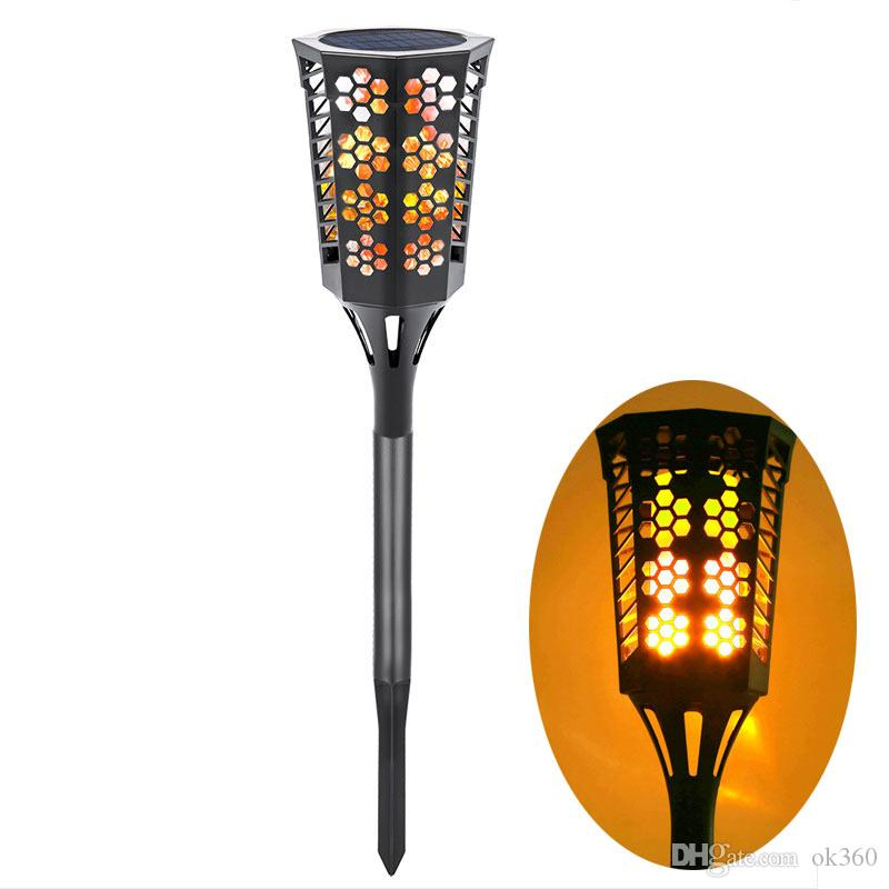 2018 Solar Garden Light Solar Decorative Flames Torches Lights Led  Atmosphere Lamp Flames Wall Lights Outdoor Dancing Flame Light For Yard  Garden From Ok360 ...