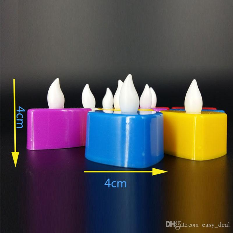 Romantic Heart Shape LED Lights Wedding Electronic Candle Lamp Party Event Flameless Flickering Battery Candles ZA5593