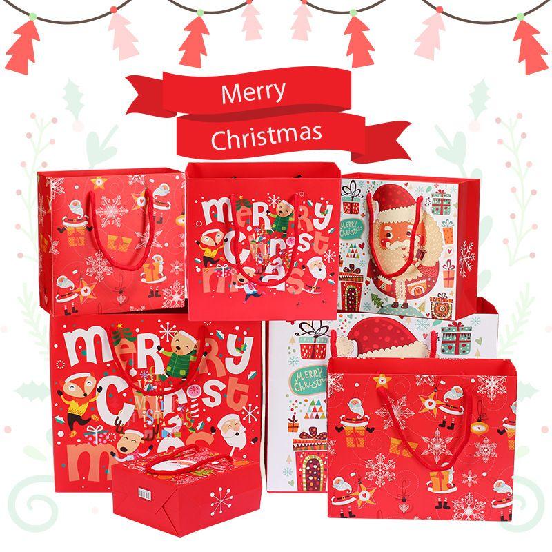 christmas gift bag santa chocolate handbag beautiful christmas ornaments paper bag large medium and small bag spot christmas decorations brown paper