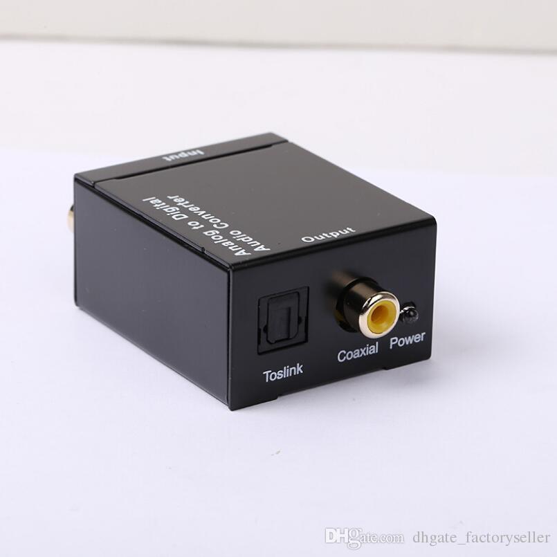 Neue Ankunft Digital Adaptador Optic Coaxial RCA Toslink Signal zu Analog Audio Converter Adapter Kabel LX2299