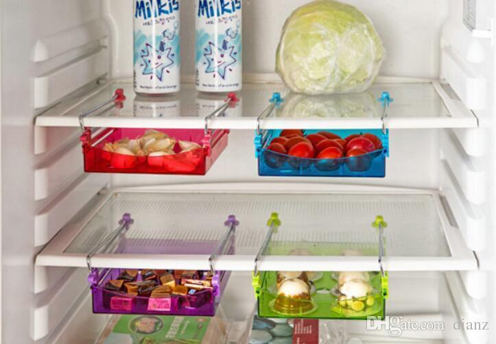 Pour BIG acheteur Cuisine Réfrigérateur Tiroir Espace Saver Organisateur Réfrigérateur Rack De Stockage Étagère Titulaire Tiroir