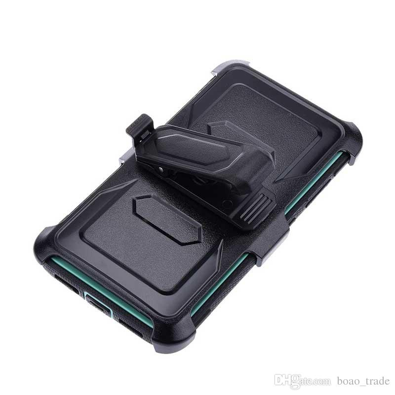 FOR ZTE Grand X Max2 Z988/Z981 2018 Armor Hybrid Case 3 in 1 Combo Holster Belt Clip Protective Defender Kickstand Phone Cover