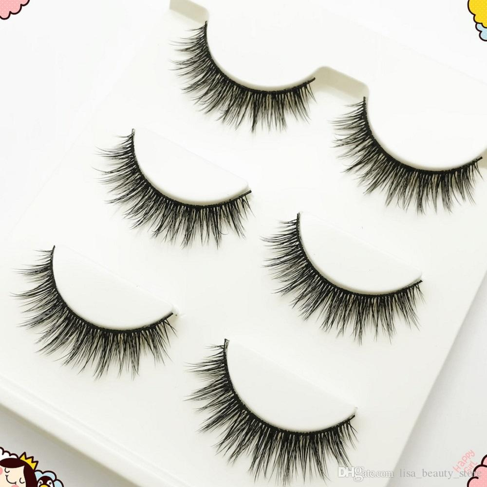 3D Cross Thick False Eyelashes Extension Makeup Super Natural Long Fake Eyelashes Wholesale New 3D-12