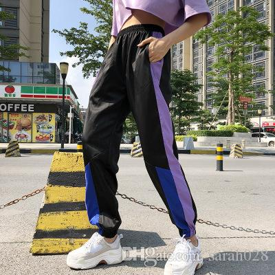 Casual Pants Summer Loose Trousers High Waist Sweatpants Streetwear ... e38f13d2c3ae