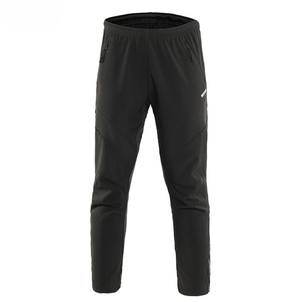 men's winter warm up thermal fleece cycling pants multi running bike