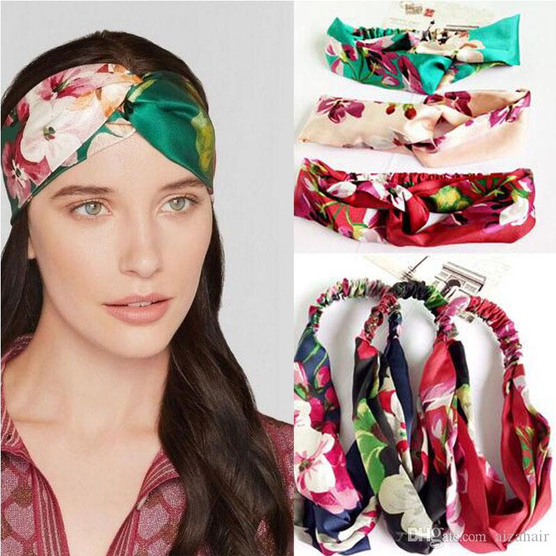 Fashion Women Knot Flower Headband Cross Turban Elastic Hairband Head Wrap  Girls Hair Accessories Hair Bands For Girls Bandanas Decorative Hair Pins  For ... 20d7e5ea9aeb