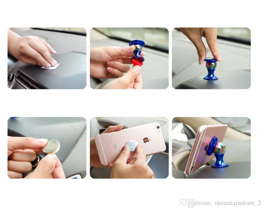 Car Mount Kit Sticky Stand Holder For Iphone X 8 7 6 Plus For Samsung cell phone