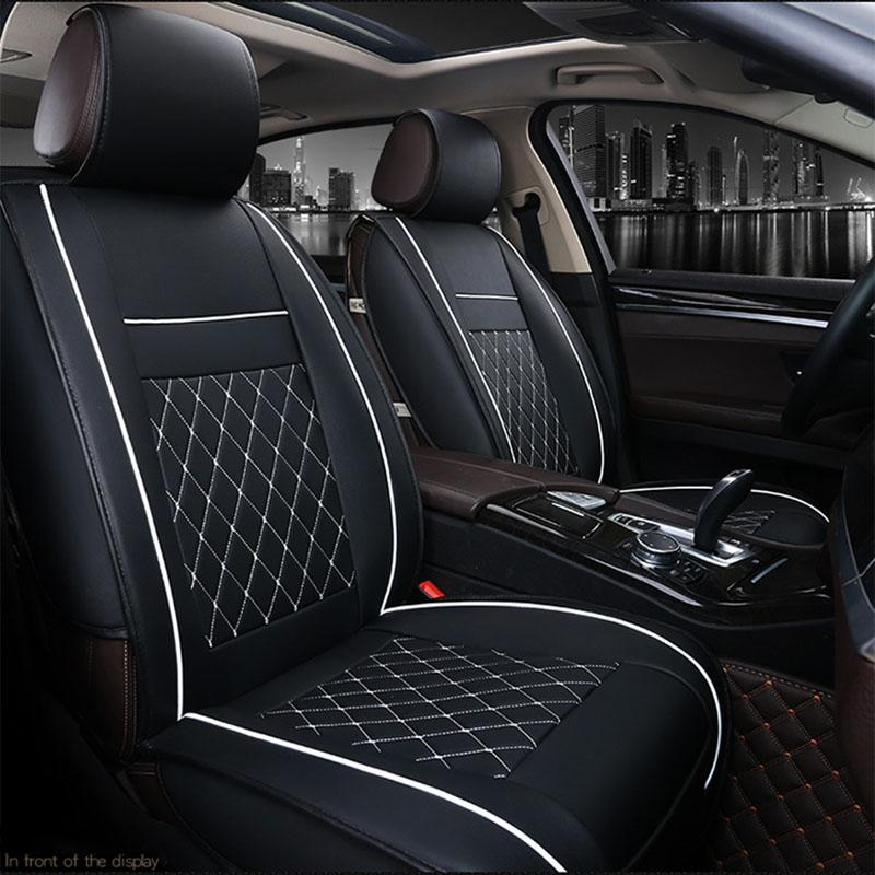 Four Seasons Auto >> Quality Pu Leather Car Seat Covers Universal Four Seasons Auto Cushion Fits All Standard Car Seats