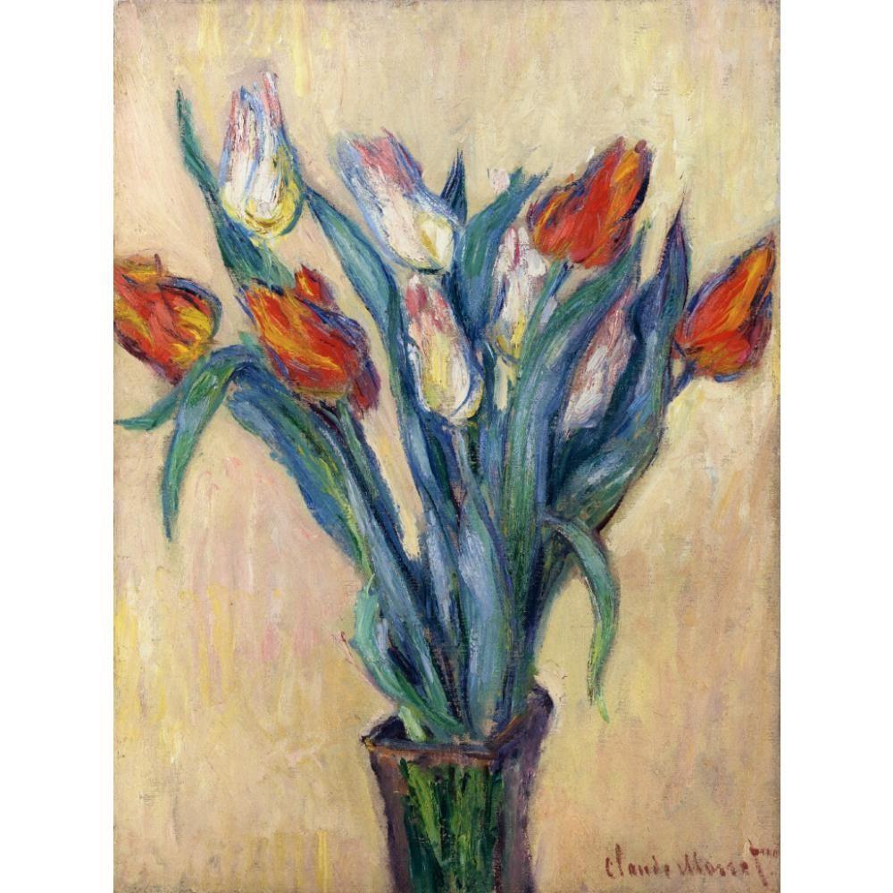 Großhandel Schönes ölgemälde Von Claude Monet Vase Mit Tulpen Kunst