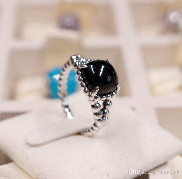 3f37c96e9 2019 2018 Summer 925 Sterling Silver Ring Obsidian Ring Original Fashion  DIY Charms Jewelry For Women Making From Luogelan, $15.96 | DHgate.Com