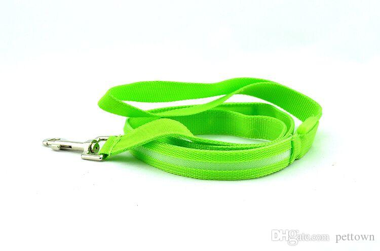 B03 2.0 cm width Pet dog LED leahses leads pet traction rope pull strap for dogs cats 120cm length USB Rechargeable