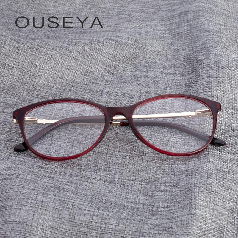 31e34456a1b TR90 Women Eye Glasses Frame Brand Cat Eye Designer Clear Optical ...