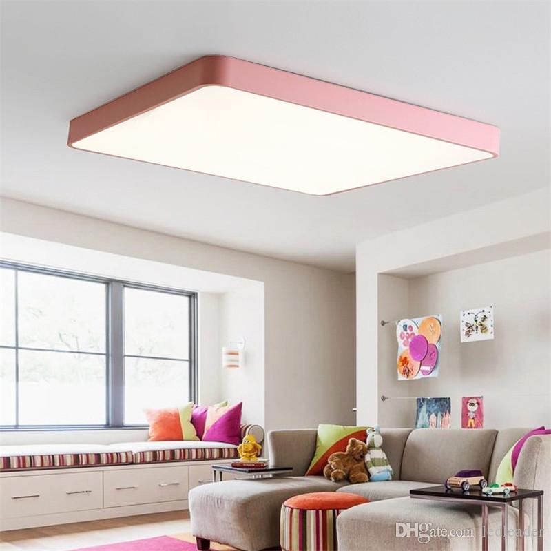 Acheter Lampe De Plafond Led Ultra Mince Moderne Nordique Lampe De ...