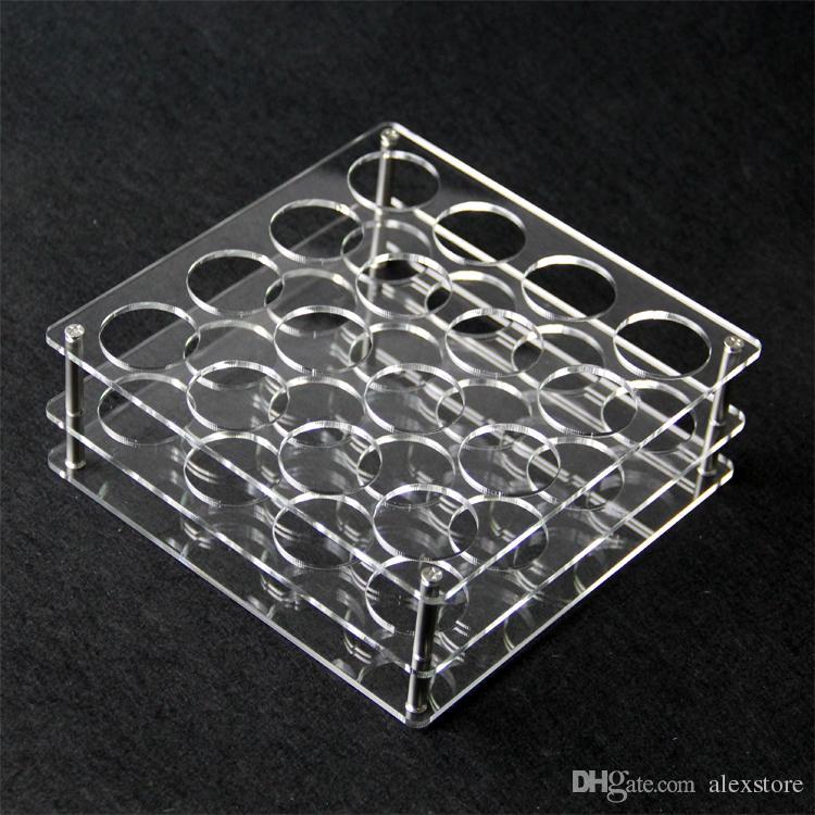 Présentoir acrylique transparent support étagère vape rack showcase pour ou bouteilles en plastique de 60 ml e liquide eJuice DHL