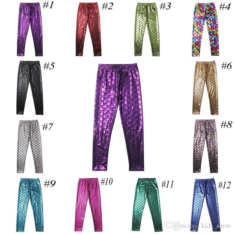 e488b5041d652 2019 Girls Mermaid Pants Baby Fish Scale Leggings Kids Mermaid Shiny Pants  Kids Girl Long Scale Tight From Kids_show, $4.31 | DHgate.Com