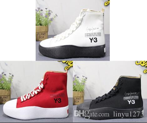 e96b54cee High Quality Y 3 Bashyo High Top Sneakers For Men Women All Black White Red  Trainer Shoes Y3 Running Shoes Italian Shoes Cute Shoes From Linyu1273