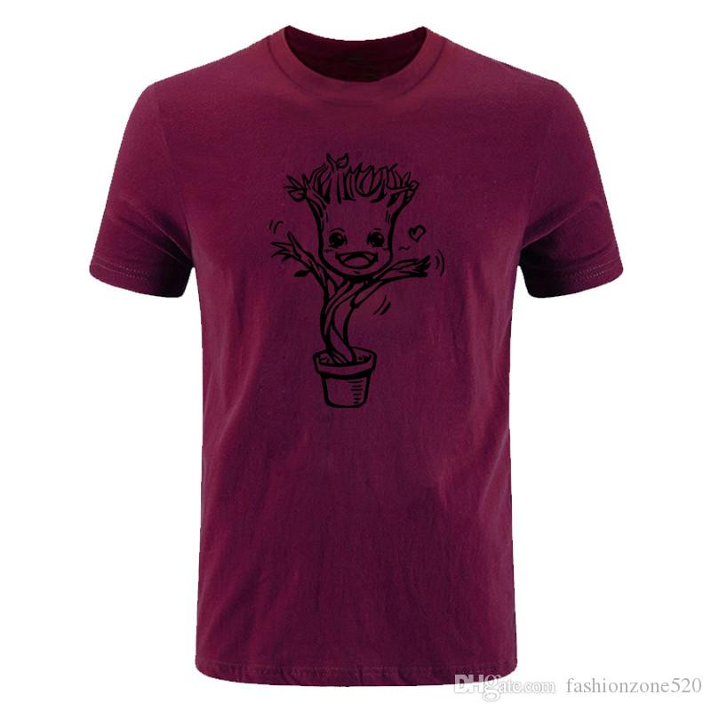 Guardians of galaxy I Am GROOT T Shirt Cartoon Design T-shirt Cool Novelty Funny Tshirt Style men Printed Fashion Tops Tees DIY-0879D