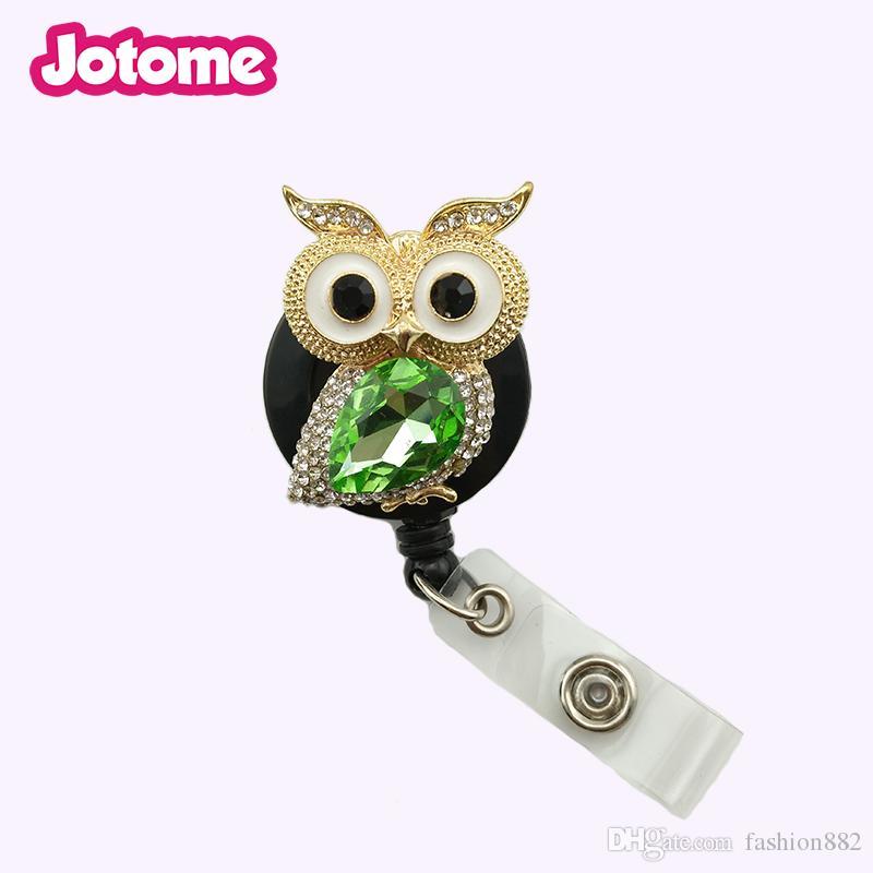 Animal Owl Nurse Medical Yoyo ID Card Name Retractable Badge Reel Holder Clip