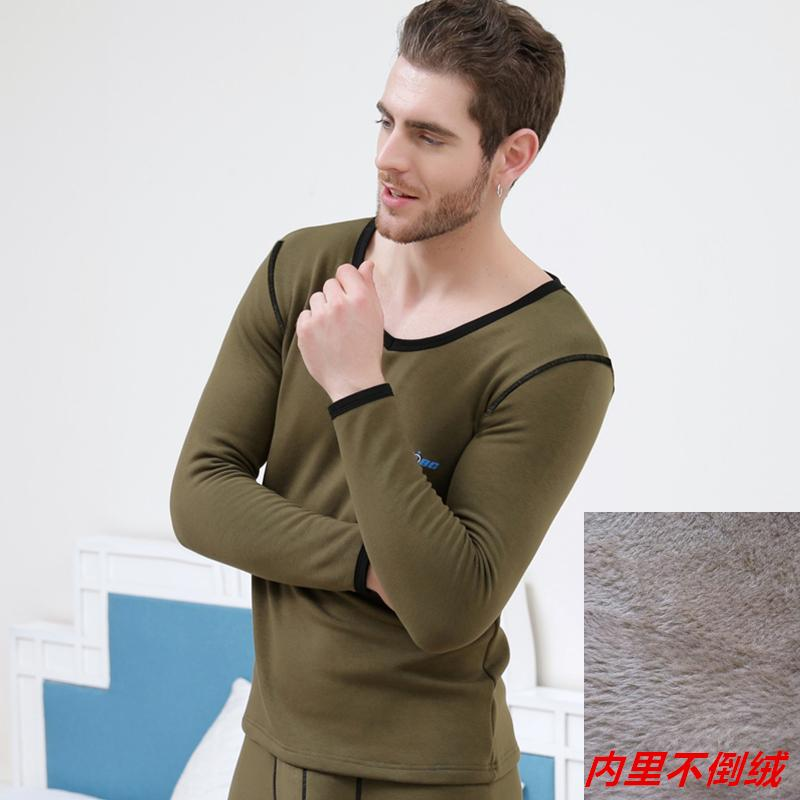 2a220895f1972f 2019 New Aibc Men'S Underwear Top Plus Velvet Winter Thermal Silk Cotton  Velvet Fashion Long Johns Only Top From Peanutoil, $36.14   DHgate.Com