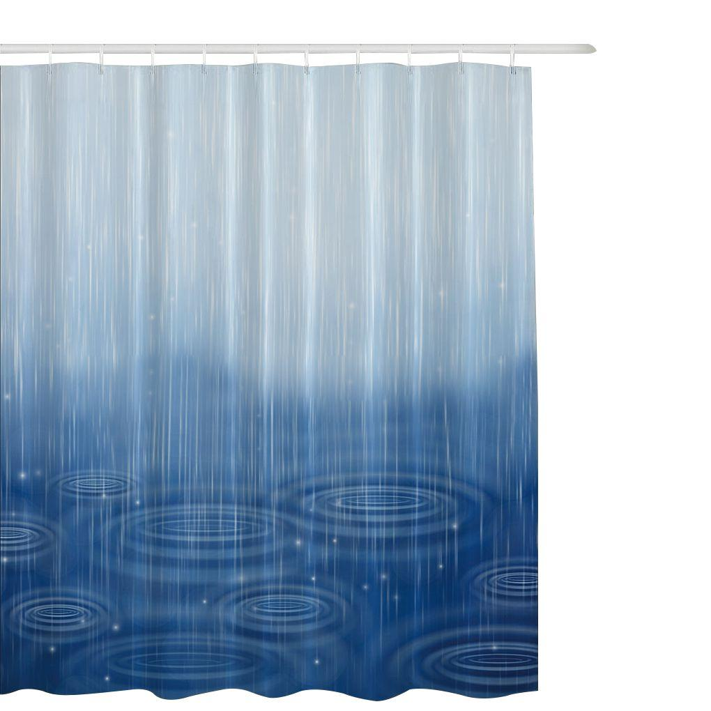 2018 Beautiful Blue Polyester Mildew Resistant Shower Curtain Waterproof Bathroom Partition 6 Size From Adeir 2206