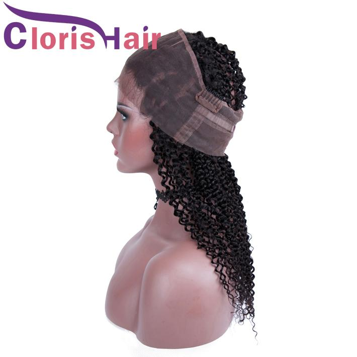 22x4x2 capelli umani pizzo frontale 360 chiusura crespo riccio vergine malese 360 pezzi frontali completi pezzo afro riccio crespo pre pizzicato naturale hairlin