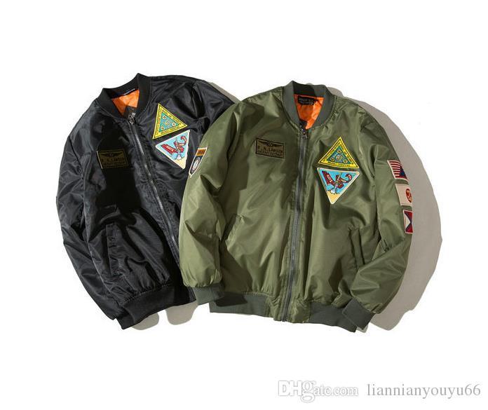 21db4cbf9ba Popular Logo MA1 Bomber Jacket Men S Air Force Embroidery Multiple Logo  Japanese Department Style Baseball Uniform Men S And Women S Coats Topshop  Womens ...