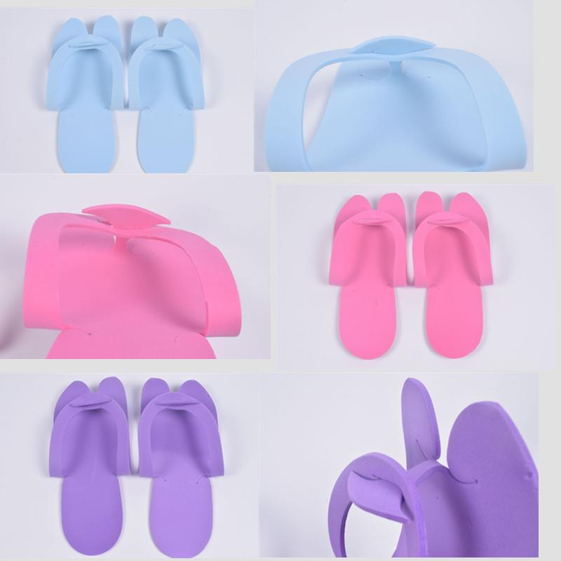 5c5f4fb93da Candy Colors EVA Foam Hotel Spa Slipper Disposable Pedicure Thong Slippers  Disposable Slippers Beauty Slipper LE24 White Shoes For Children Shop For  Kids ...