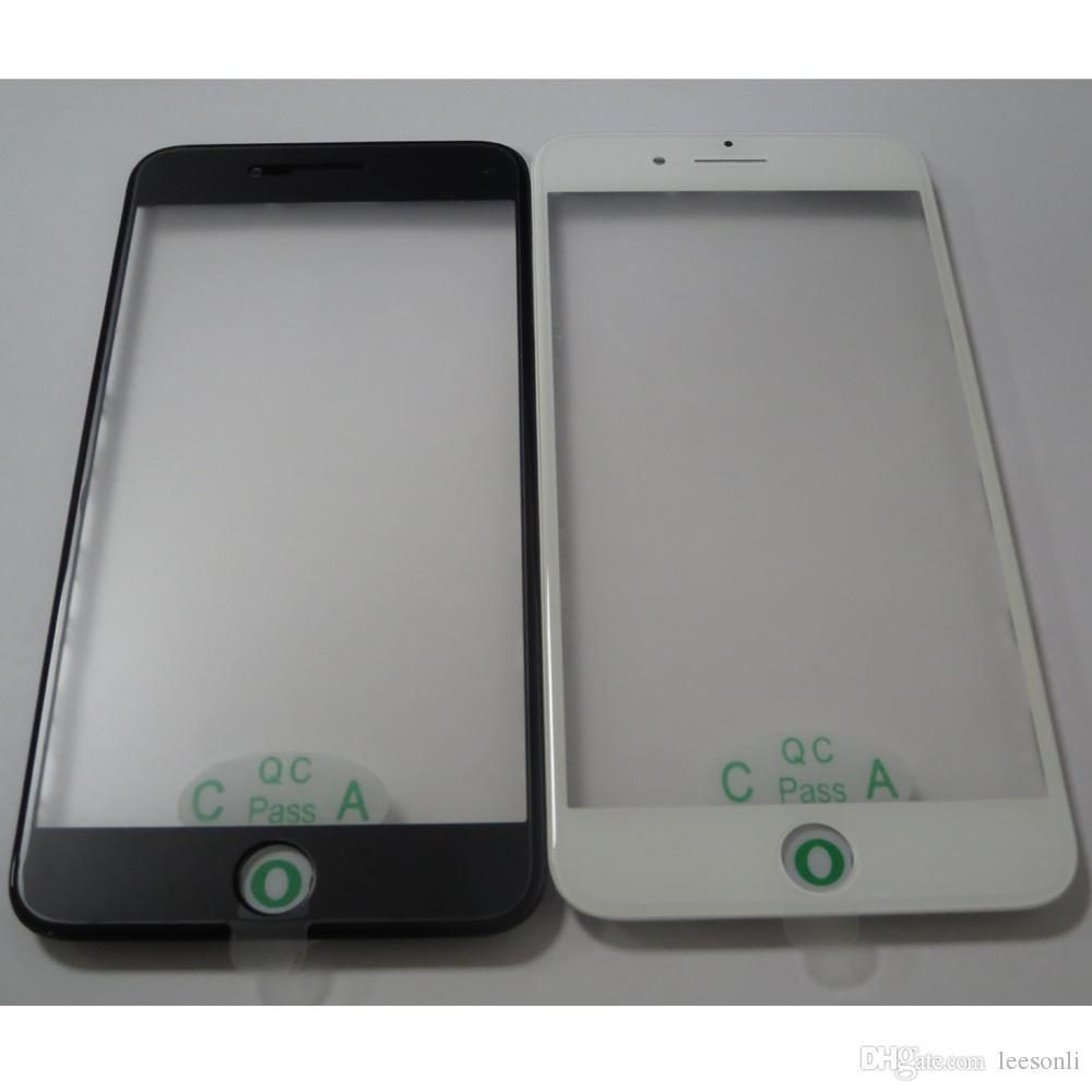 Écran LCD d'origine, lentille en verre avec panneau de cadre moyen et film OCA ensemble pour iPhone 7 7 Plus Fix