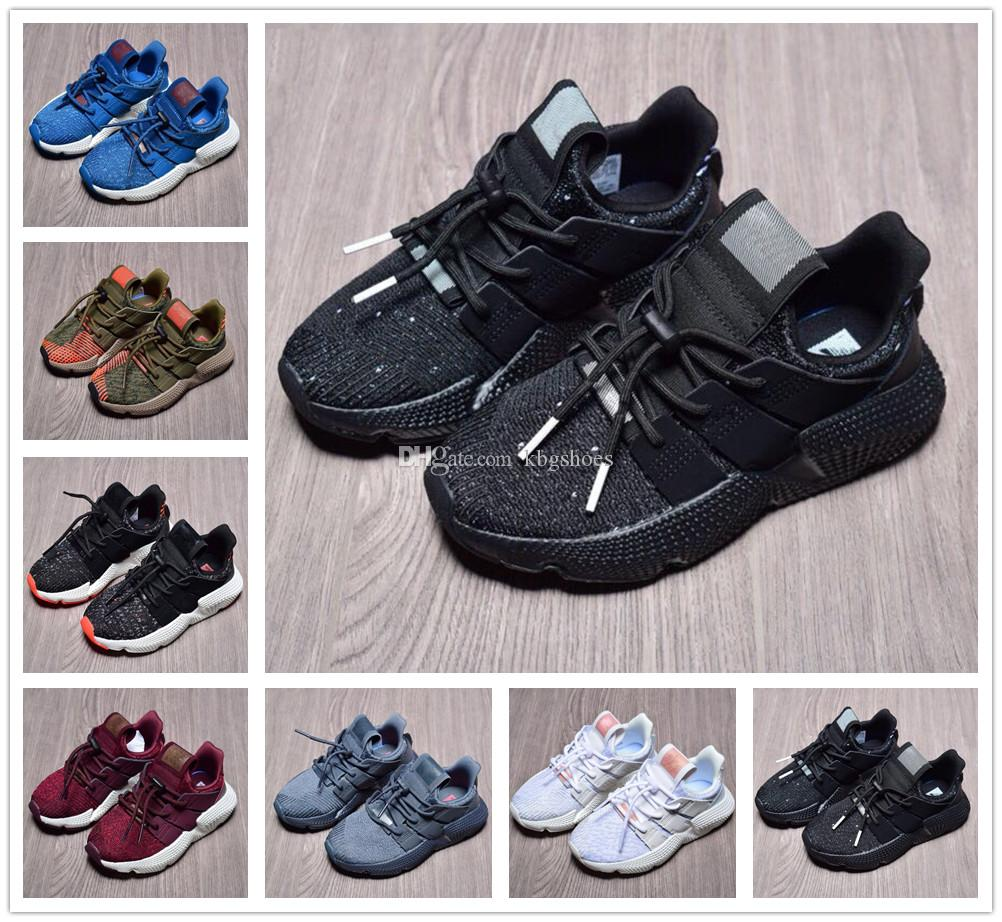 watch 09635 586b9 High Quality Toddler Boys Girls EQT 4 Casual Shoes Infant Kids Fashion  Prophere Climacool All White Black Children EQT 4 jogging Size 26-35